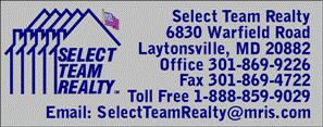 Select Team Realty® Information 301-869-9226